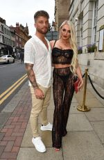 ZaraLena Jackson Shows off her amazing figure on a night out with her friend and boyfriend at Nuage in Manchester