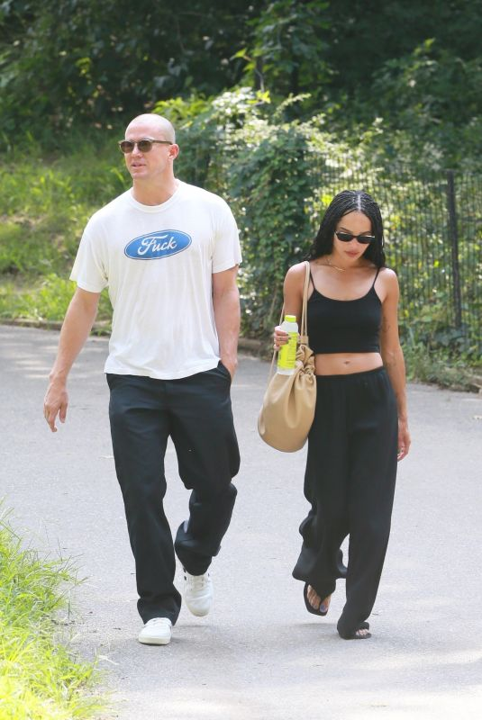 Zoe Kravitz Seen taking a stroll with rumored beau Channing Tatum through Central Park in New York