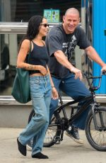 Zoe Kravitz Spotted on a walk in the East Village