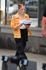 Zoey Deutch On the Set of