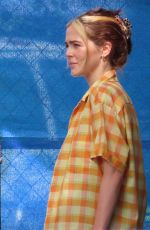 Zoey Deutch On the Set of Not Okay in New York