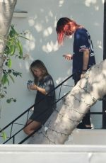 Addison Rae & her boyfriend were spotted leaving a hair salon in West Hollywood