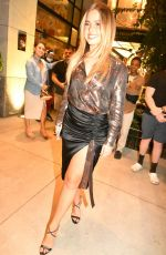 Addison Rae Slips into stunning metallic look a she leaves her hotel in New York