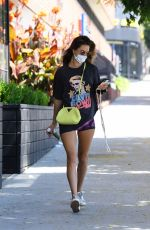 Alessandra Ambrosio At Sports a David Bowie t-shirt for a Labor Day workout in Brentwood