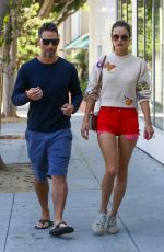 Alessandra Ambrosio Goes out to lunch with boyfriend Richard Lee