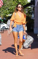 Alessandra Ambrosio Goes shopping in Brentwood, California