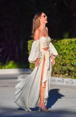 Alessandra Ambrosio Poses for pictures as she heads to a Memorial Day Party in Malibu
