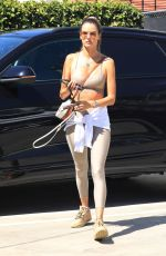 Alessandra Ambrosio Seen out shopping after getting her daily workout in West Hollywood