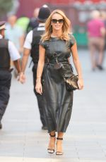 Amanda Holden Looks hot in a black dress at Heart radio in London