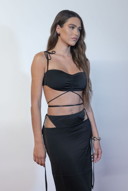 Amelia Gray Hamlin Stuns in Swimsuit & Skirt Look at Revolve Event During NYFW SS2022 in New York