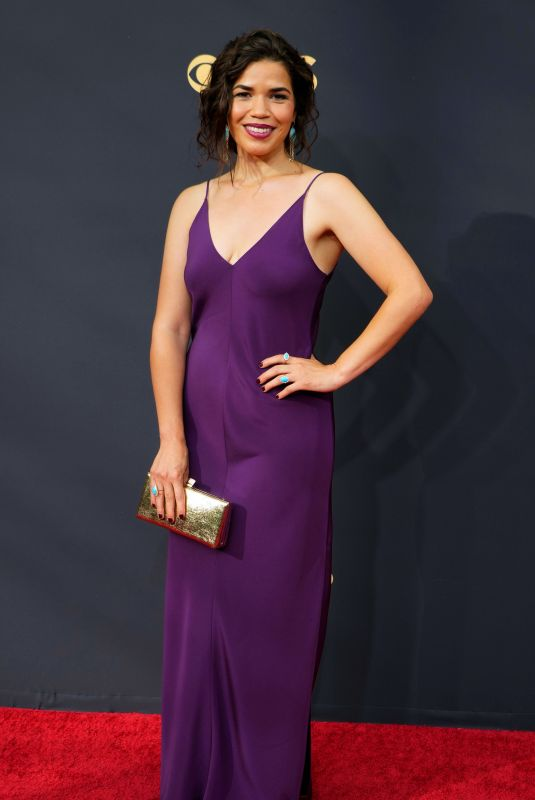 America Ferrera At 73rd Primetime Emmy Awards at L.A. Live in Los Angeles