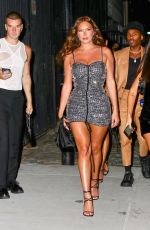 """Anastasia """"Stassie"""" Karanikolaou Stuns in a silver dress as she steps out for a night of fun in New York"""