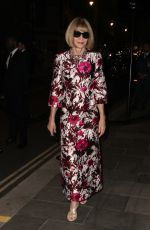 Anna Wintour Seen at British Vogue and Tiffany & Co celebrate Fashion and Film at the Londoner Hotel in Leicester Square
