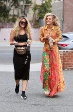 Annalynne & Rachel McCord Were spotted out leaving a medical building in Beverly Hills