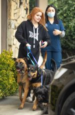 Ariel Winter Picking up her dogs from the groomer in LA