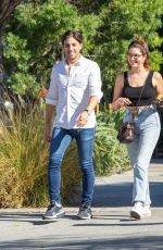 Ashley Benson Goes out on a lunch date with singer Justin Thorne in Studio City