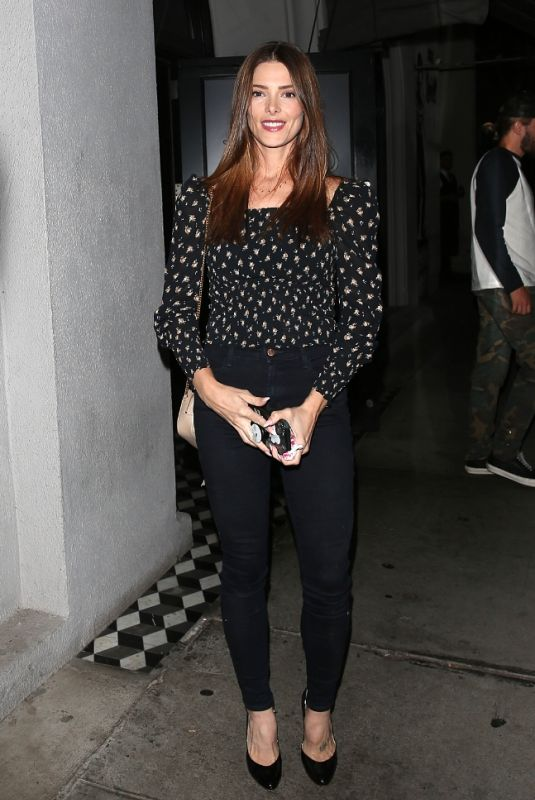 Ashley Greene Arriving for dinner at Craigs Restaurant in West Hollywood