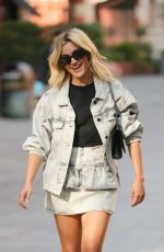 Ashley Roberts Makes a leggy appearance at Heart radio in London