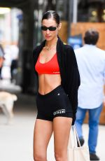 Bella Hadid Is seen leaving the gym after workout in West Village