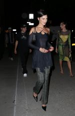Bella Hadid Seen coming out from her apartment for an event at Spring Studios in New York City
