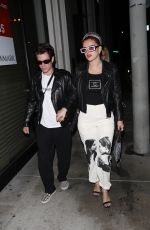 Bella Thorne Steps out with her boyfriend for a dinner date at Catch in West Hollywood