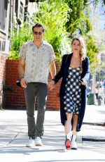 Blake Lively On a walk with her husband in Tribeca