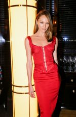 Candice Swanepoel At CR Fashion Week party in New York