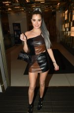 Carla Howe Puts on a cheeky display leaving the Hard Rock Hotel in London