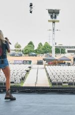Carrie Underwood Seen during rehearsals for the CMA Summer Jam 2021 at Ascend Amphitheater in Nashville