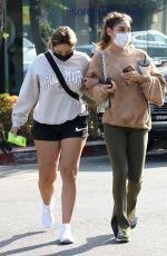 Chantel Jeffries Goes out for a coffee with a friend in West Hollywood