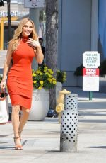 """Chrishell Stause & Heather Rae Young Film scene for their show """"Selling Sunset"""" at Sunset Plaza in West Hollywood"""