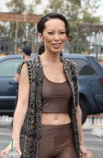 Christine Chiu Showing off her abs seen heading into the dance studio on Saturday in Los Angeles