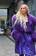 Christine Quinn Takes to the back alleys of London for a photoshoot whilst promoting her new cosmetics brand in the city