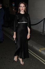 Claire Foy Attends an intimate dinner and party hosted by British Vogue and Tiffany & Co. at The Londoner Hotel in London