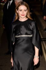 Claire Foy Seen at British Vogue and Tiffany & Co celebrate Fashion and Film at the Londoner Hotel in Leicester Square