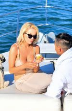 Courtney Stodden Is given a birthday surprise by her fiancee Chris Sheng with a day on the high seas in Marina Del Rey
