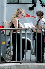 Dakota Fanning Spotted out on location of the new tv series