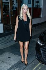 Denise Van Outen Enjoys after show drinks with the cast of Proud