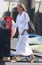 """Diane Kruger Departs the set of """"Out of the Blue"""" in Newport, Rhode Island"""