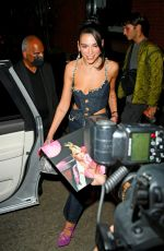 Dua Lipa Shows some love to fans as she and her boyfriend Anwar Hadid head out from The Mercer Hotel in New York City