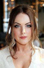 Elizabeth Gillies Attends the Markarian front row at 30 Rockefeller Plaza in New York City