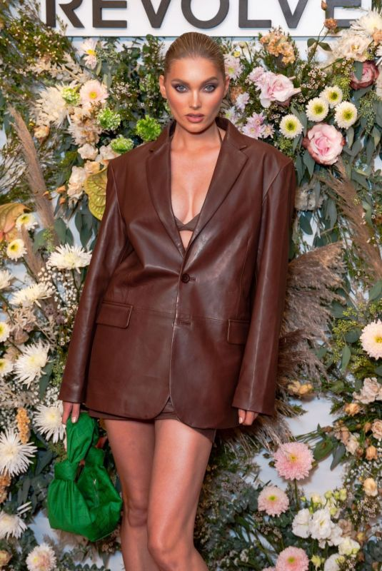 Elsa Hosk Attends the inaugural REVOLVE GALLERY at Hudson Yards in New York City