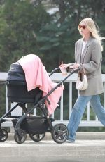 Elsa Hosk Does on a coffee run near her home in Pasadena