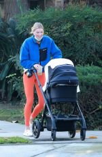Elsa Hosk Seen out for a walk near her home in Pasadena