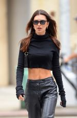 Emily Ratajkowski Shows off her toned abs while out for a stroll in New York