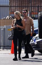 Emma Slater Arrives at the Dancing With The Stars rehearsal studio in Los Angeles