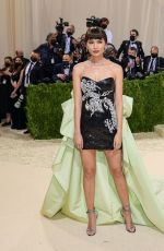 Gemma Chan Attends The 2021 Met Gala Celebrating In America: A Lexicon Of Fashion at Metropolitan Museum of Art