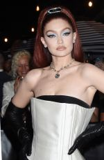 Gigi Hadid Celebrities departing The Mark Hotel in New York City for the 2021 Met Gala