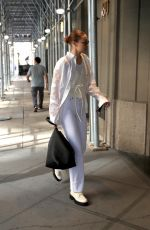 Gigi Hadid In an all-white ensemble as she steps out in New York
