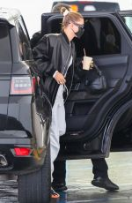 Hailey Bieber Arrives at a medical building in Beverly Hills